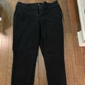 Loft Black Curvy Skinny Ankle Pants